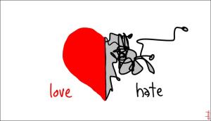 Amar y odiar: manejar el arte de las distancias.
